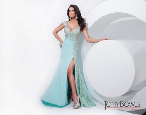 vestidos elegantes de noche tony bowls
