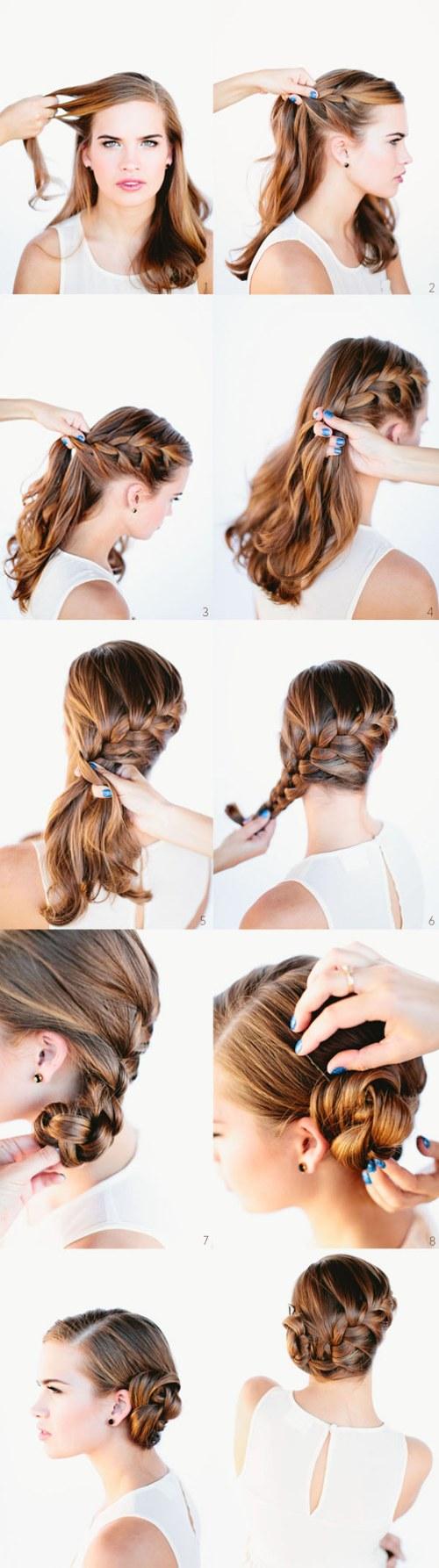 10 peinados lindos paso a paso de trenzados para el - Peinados bonitos paso a paso ...