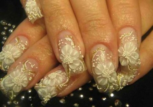 diseños uñas para novias