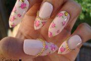 10 Hermosos diseños para tus uñas con flores estilo vintage
