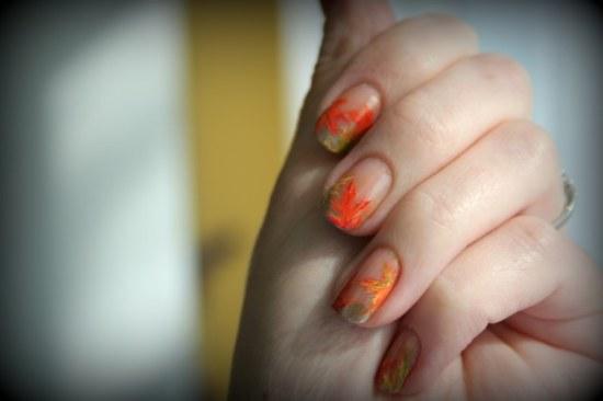uñas diseños otoño manicure