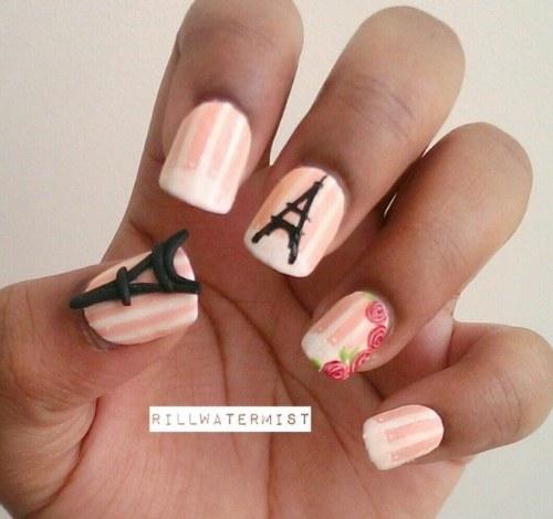 diseños paris uñas manicure