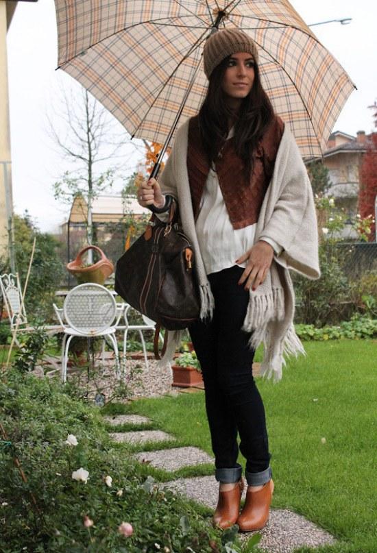 vestir bufandas moda otoño 2014