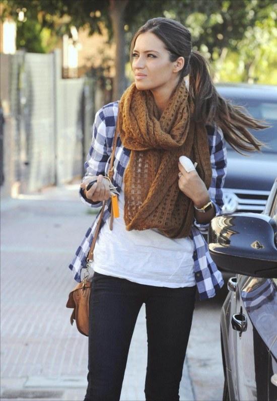 mejores maneras outfits bufandas moda otoño