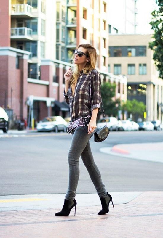 Los mejores Outfits con camisas de cuadros Tartan para un look rockero!