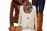 Combinaciones de Outfits con Chaquetas de cuero por Polyvore para Otoño