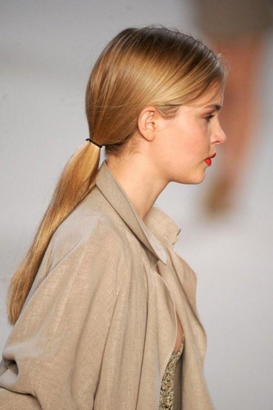peinados cola de caballo baja faciles