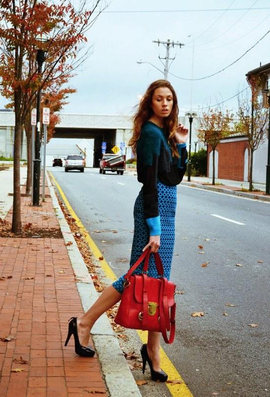 faldas midi otoño 2014 moda