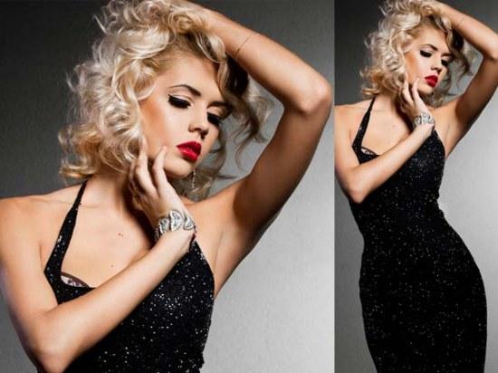 maquillaje para vestidos negros