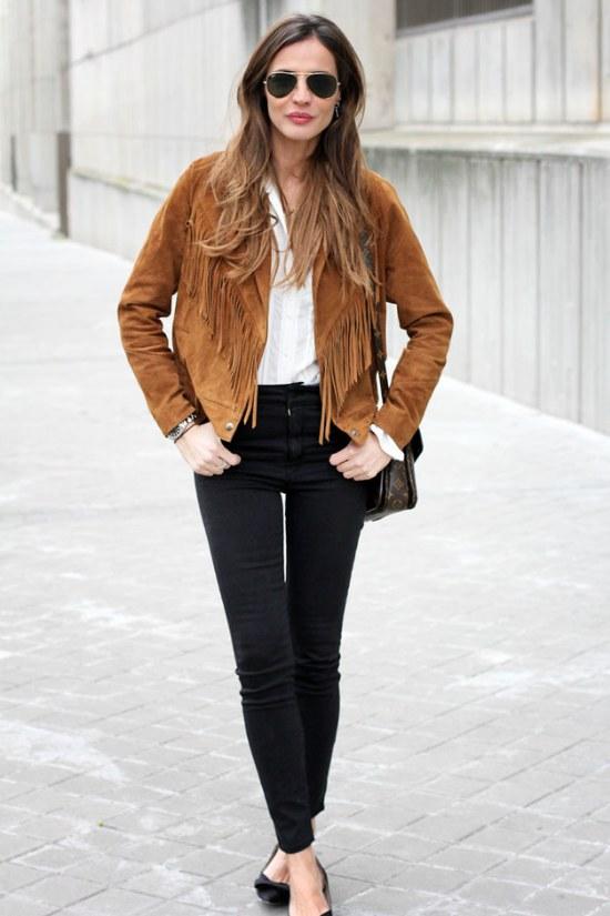 outfits color marron moda otoño 2014