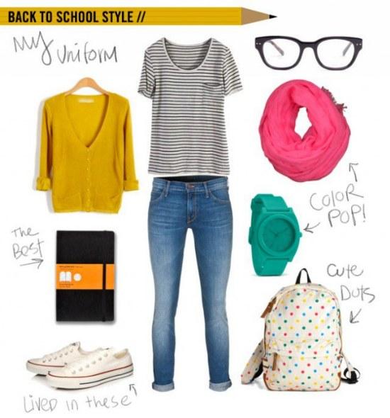 outfits para el regreso a clases septiembre