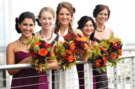 ramos flores bouquets otoño bodas moda