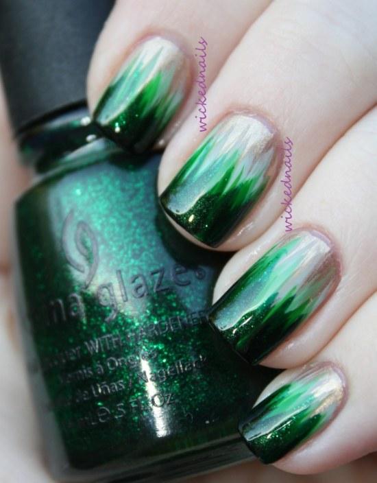 dise241os de u241as de color verde esmeralda para este oto241o