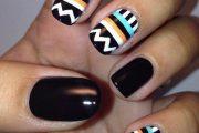 Hermosos diseños tribales para uñas