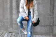 Maneras elegantes para vestir abrigos de pieles para el Otoño y pre Invierno