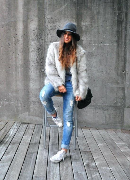 moda otoño invierno abrigos pieles pelaje