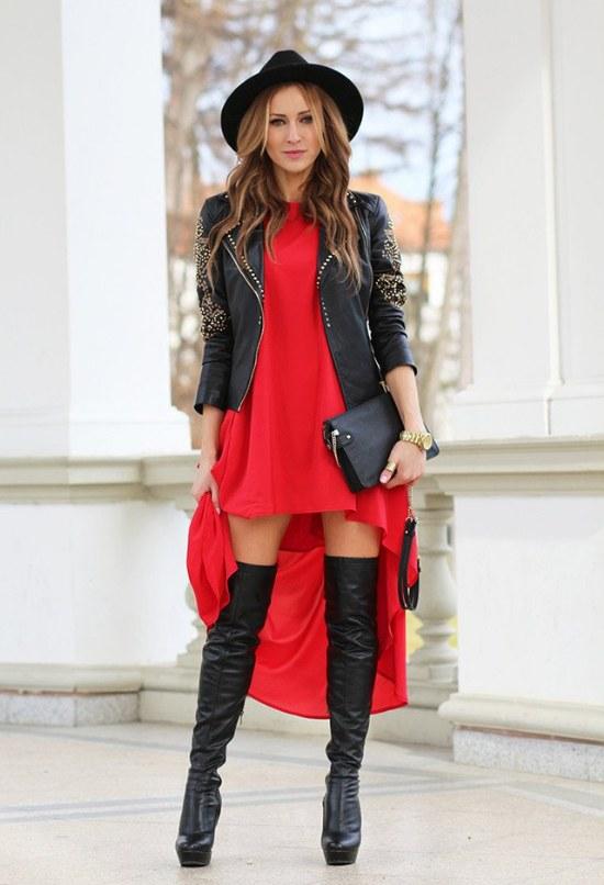 botas negras rodilla tendencias invierno moda