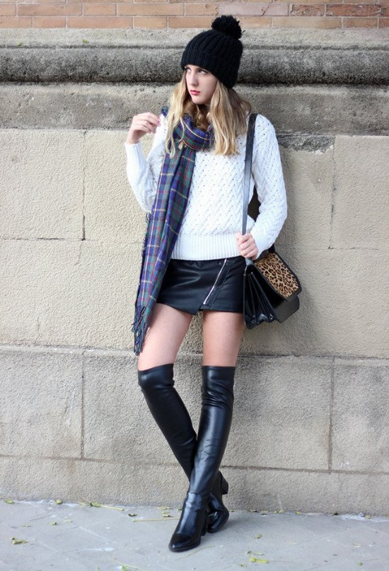 botas rodillas moda invierno tendencias outfits