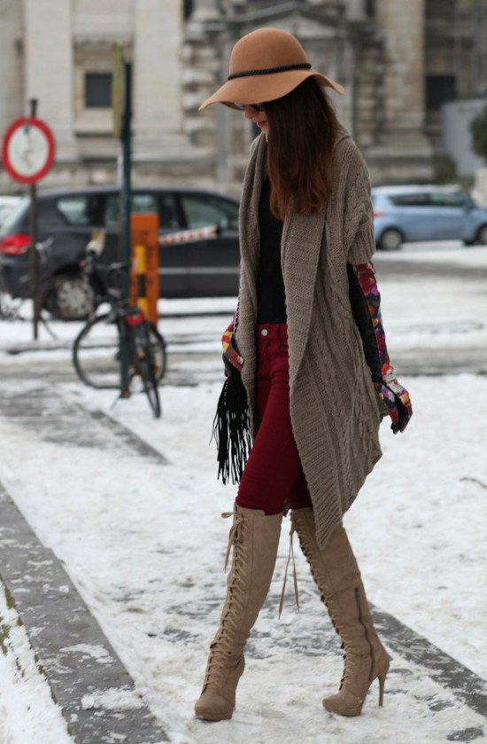 botas rodillas moda invierno tendencias outfits