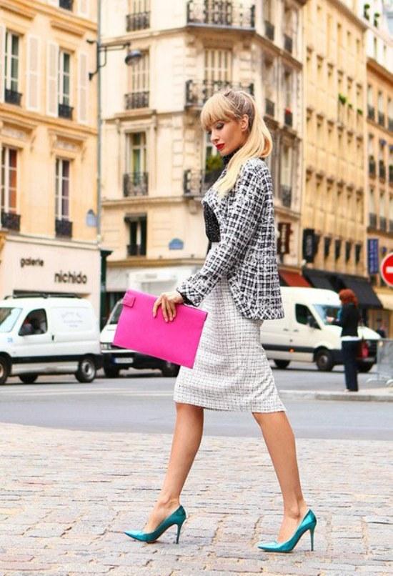 chaquetas blazers otoño moda tela escocesa