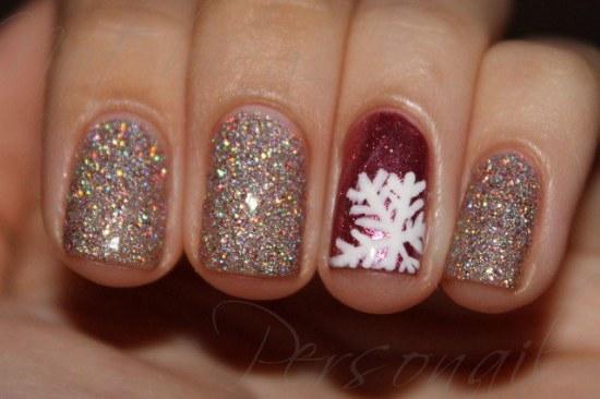copos de nieve diseño uñas diciembre