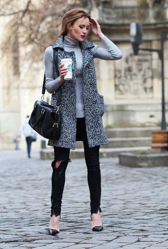 outfits cuellos tortugas jerseys moda otoño invierno