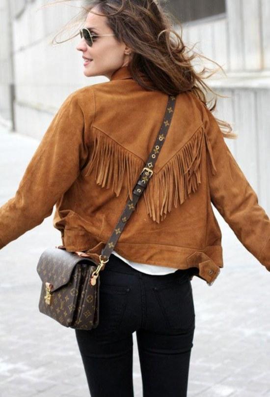 flecos franjas indio americano moda prendas