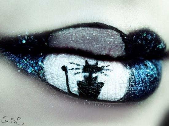 eva senin labios maquillaje halloween