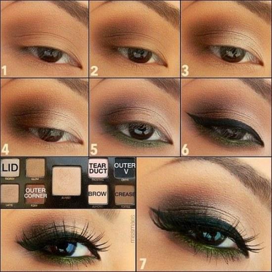 maquillaje chicas ojos marron
