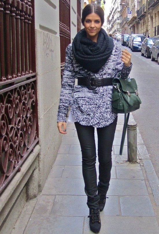 bufandas finitas outfits moda otono invierno