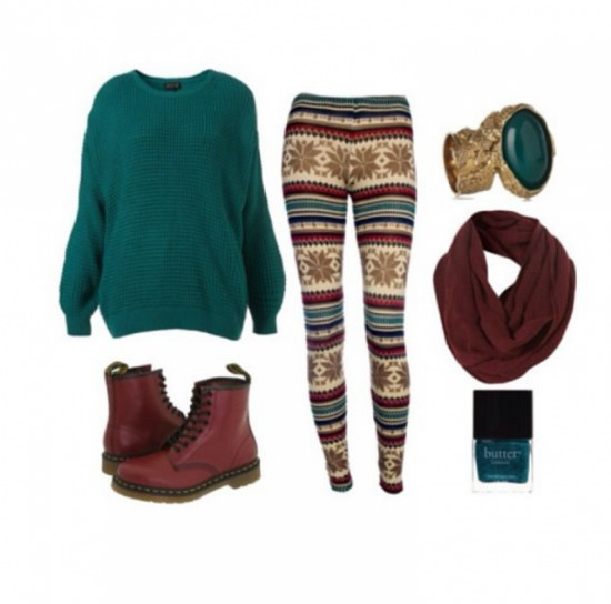 outfits leggings combinaciones invierno moda