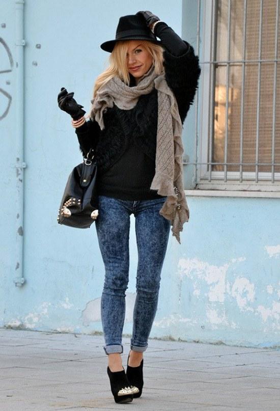 sombreros moda invierno outfits