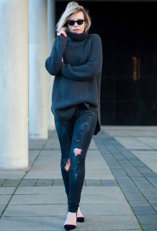 Usa Jerseys o Sueters una talla más grande para mantener el calor este Invierno 2014