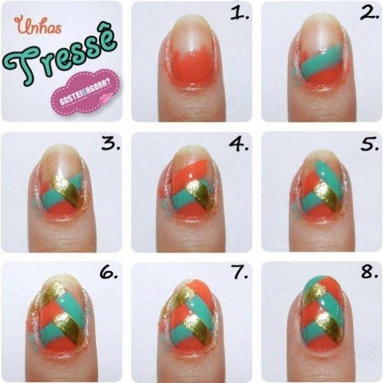 tutoriales paso a paso diseños uñas