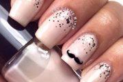 Diseños para uñas inspirados en bigotes/mostachos para este Noviembre!
