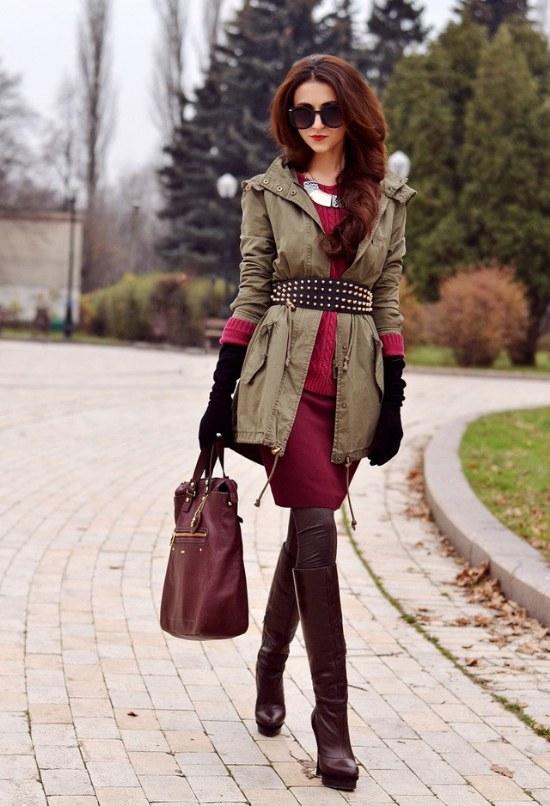 El color vino tinto es tendencia para este oto o 2014 - Combinaciones ropa interior femenina ...