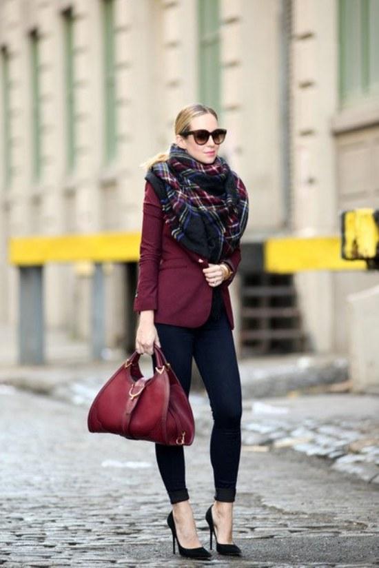 vinotinto moda otoño 2014 outfits diseños de uñas
