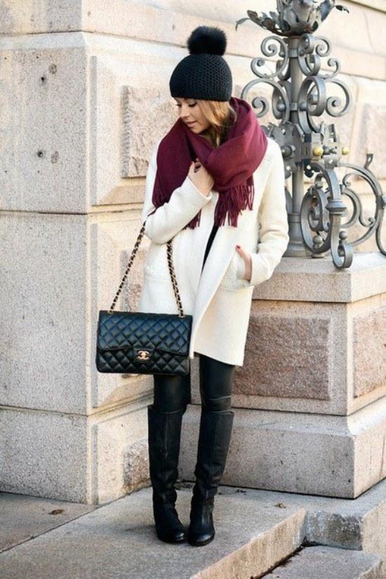 outfits abrigos largos moda invierno chicas