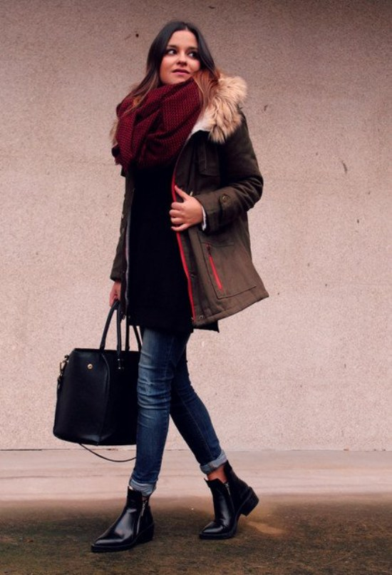 outfits chaqueta parka abrigo invierno