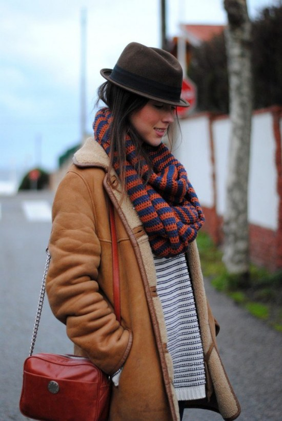 chaquetas invierno piel oveja moda