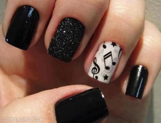 diseños uñas musica notas musicales