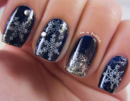 diseños uñas navidad moda
