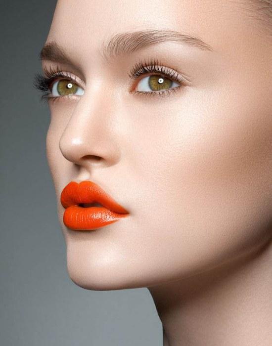 labios color naranjas moda invierno