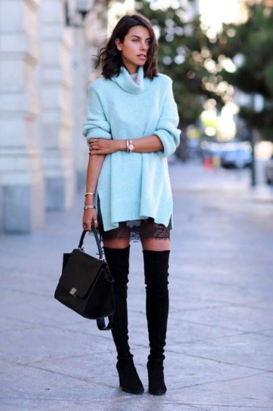 Copia estas ideas de Outfits casuales para mantenerte Cálida este Invierno 2014