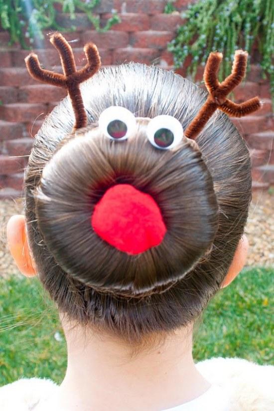 peinados fiestas navidad año nuevo cabello