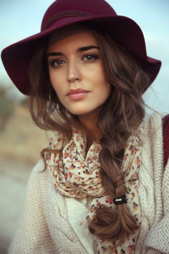 peinados para gorros sombreros invierno