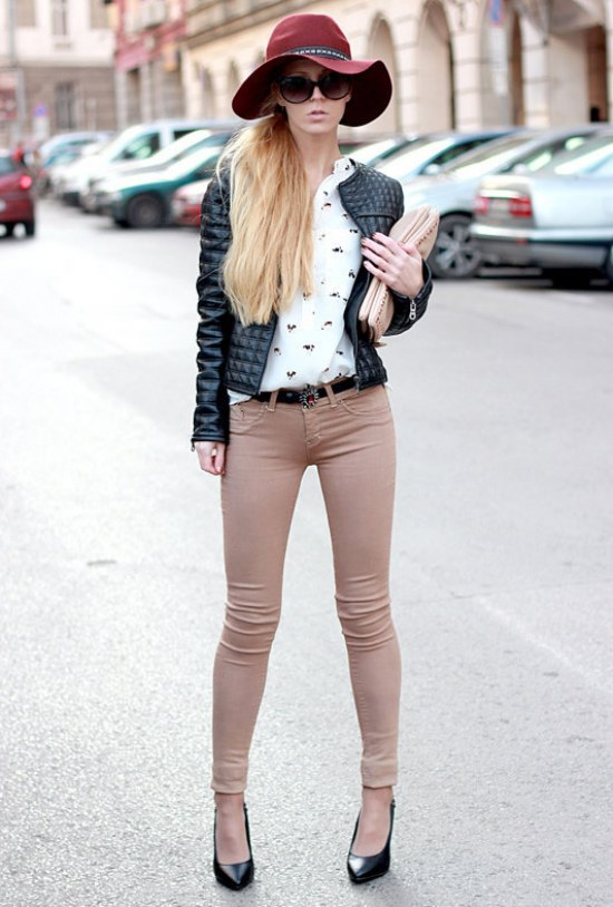 outfits sombreros moda invierno 2014
