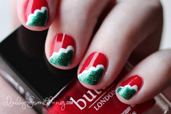 uñas diseños navidad manicure