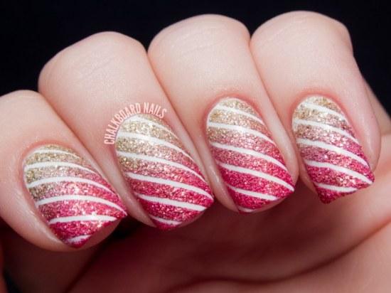 diseños uñas rayas manicure
