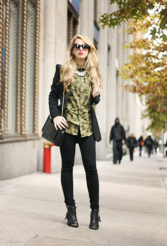 verde militar moda tendencia outfits 2014 2015